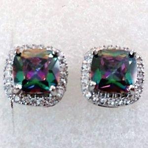 Jewelry - Mystic Princess Cut Rainbow Topaz ~ 925 STERLING